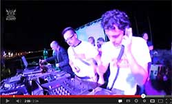 dj frisk,5k0tt, molla from hitfinders, Pisa, July 18, 2013